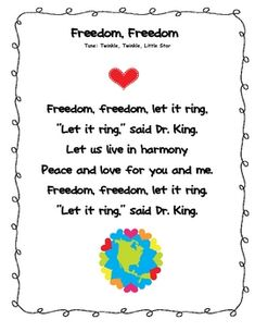 Martin Luther King Poem Freebie