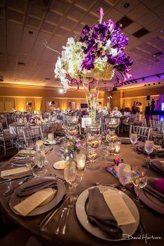 Blue Vanda Designs At The Bolger Center Wedding Purple And White Centerpiece Washington Dc