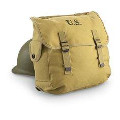 e7df70ea9e Reproduction U.S. Military Surplus-style M36 Musette Bag, Khaki Militaire  Américain, Sac