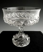Antique glass compote pedestal base Snail by Duncan c. 1891