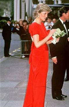 1987-07 Diana and Charles attend a Dinner at the German Embassy in London