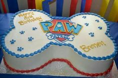 Lindo queque en forma de hueso de Paw Patrol