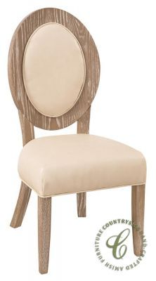 Customize your upholstered side chair using our Create Your Piece menu and it will be built to order.