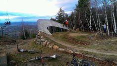 Photo of Rock Rockwood and Myself in North Field, New Hampshire, United States. Sky brow on a tandem Mtb Trails, Mountain Bike Trails, Mt Bike, Bike Parking, Bike Rider, Bike Stuff, Parkour, New Hampshire, Stunts