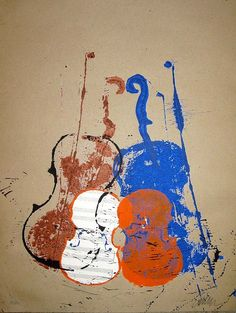 Arman, Untitled (Melodie) Silkscreen on paper. x cm) Edition of Signed and numbered. Violin Art, Violin Music, Art Music, Nouveau Realisme, Jazz Art, Les Oeuvres, Graphic Art, Pop Art, Instruments