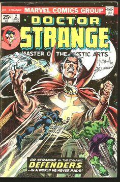 Dr. Strange #2 SIGNED by Frank Brunner artist MARVEL Comics 1974