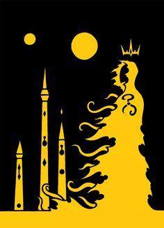 El Rey de Amarillo & Carcosa, fanart de autor desconocido.