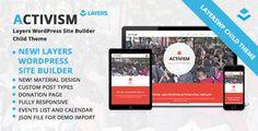 Activism - LayersWP WordPress Child Theme Template Download
