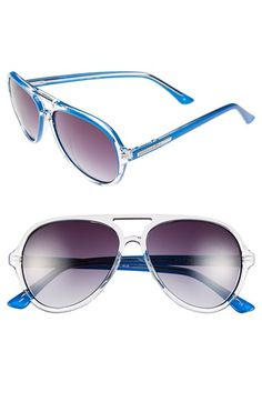 BCBGMAXAZRIA BCBG 57mm Aviator Sunglasses available at #Nordstrom