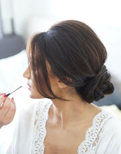 Find the perfect wedding hairstyle! Gorgeous wedding updo.