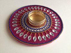 Tealight holder baseDiwali diya temple accessory boho by CozMHappy