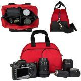 @#& Top Rated Entry Level Digital SLR & SLR Camera Case, Sling Accessories Bag (Luxury RED Mythra Collection) **Guaranteed to fit Any DSLR & SLR Camera** best price !! - http://allbeautydeals.com/top-rated-entry-level-digital-slr-slr-camera-case-sling-accessories-bag-luxury-red-mythra-collection-guaranteed-to-fit-any-dslr-slr-camera-best-price/