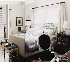 Grey, White, And Black Bedroom
