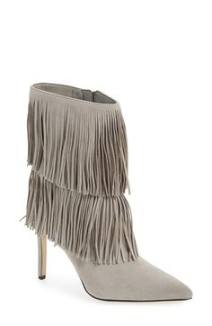 Sam Edelman 'Belinda' Fringed Suede Pointy Toe Boot (Women) available at #Nordstrom
