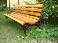 Park benches for National Bank of Serbia