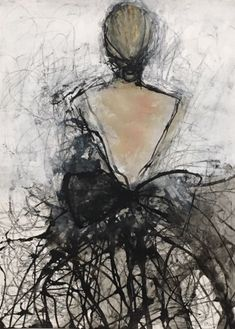 holly irwin fine art - Black Ballerena from back - Kunst Painting People, Figure Painting, Painting & Drawing, Fine Art Drawing, Knife Painting, Art Texture, Texture Painting, Realistic Drawings, Art Drawings