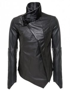 Delusion Delphon Leather Jacket Black