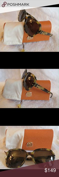 NWT Olive Tweed Camo Tory Burch TY7082 Sunnies NWT Tory Burch TY7082 Sunnies Time for some new fabulous authentic designer shades!!  TY7082 1482/73  Frame:Olive Tweed Lens: Smoke Solid Lens These look like camouflage  These are PERFECT Flawless NEVER even worn or tried on. It's just reflections that might make they look like there are issues, they are again Perfect!  Comes with original bag with tags from Luxottica, case and dust bag. All of my items are Guaranteed 100% Genuine I do not sell…