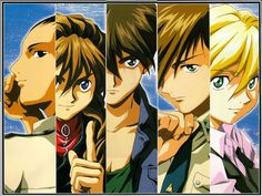 Gundam Wing ~~ I had this exact image on a mousepad a VERY long time ago. I certainly don't use a mouse any longer, but I kept the pad. NEVER throw away bishounen who gave you such pleasant fantasies!