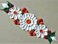 Very Easy,Small and Quick Flower Border Rangoli Designs| Creative Rangoli by Shital Mahajan. - YouTube