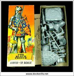 Airfix The Black Prince Scale Kit. 1960s Toys, Retro Toys, Plastic Model Kits, Plastic Models, Childhood Toys, Childhood Memories, Model Kits For Adults, Airfix Models, Godzilla Toys