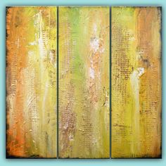 thick paint textured shabby chic beach shore abstract by mattsart