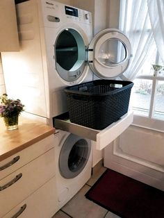 functional and stylish laundry room design ideas to inspire 1 Modern Laundry Rooms, Laundry Room Layouts, Laundry Room Cabinets, Farmhouse Laundry Room, Laundry Room Organization, Basement Laundry, Ikea Laundry Room, Gray Cabinets, Laundry Closet