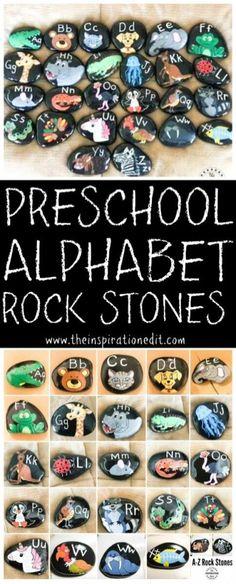 ...Preschool Alphabet Rock Stones