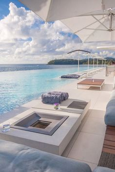 Kata Rocks Hotel, Phuket, Thailand: The angular infinity pool overlooks the Andaman Sea. .