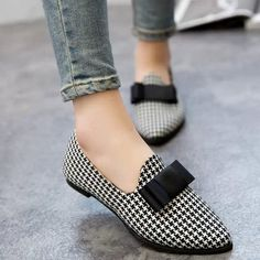 Free shipping A Korean Ribbon Suede Shoes With Thick With Low Documentary Fine Lattice Shallow Mouth Color Pointed Shoes 21