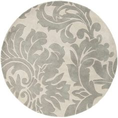 Surya BNT7673-4RD Brentwood 4' Round Synthetic Hand Hooked Eclectic Area Rug