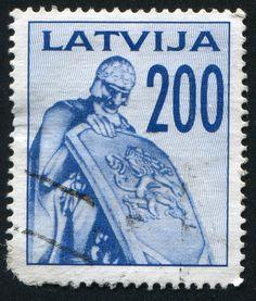 https://flic.kr/p/kJUvDq | Latvia 0006 m | LATVIA - CIRCA 1992: stamp printed by Latvia, shows Monument, circa 1992