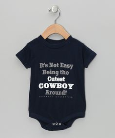 Look at this Moss Brothers Navy 'Cutest Cowboy' Bodysuit - Infant on #zulily today!