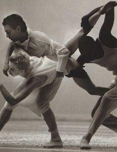 """The Loss of Small Detail""William Forsythe and Frankfurt Ballet 1993, Tokyo Photographer: Kyoji AkibaIssey Miyake, Mark Holborn, 1996"