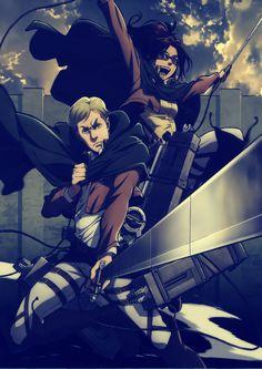 Erwin and Hanji -Shingeki no kyojin