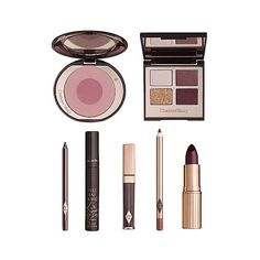 CHARLOTTE TILBURY The Vintage Vamp Look gift box ($235) ❤ liked on Polyvore featuring beauty products, gift sets & kits, travel kit, wash bag, make up purse, travel toiletry case and toiletry bag
