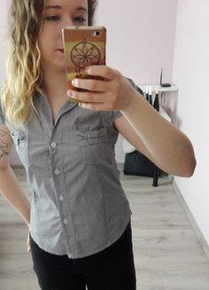 Kup mój przedmiot na #vintedpl http://www.vinted.pl/damska-odziez/bluzki-z-krotkimi-rekawami/16819730-szara-elegancka-bluzka-z-ktorkim-rekawem
