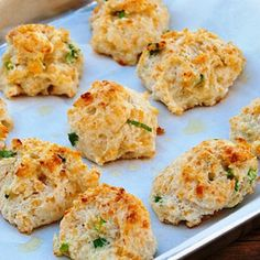 Cheddar, Garlic And Green Onion Biscuits by trusted chef and home cook