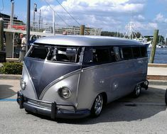 Sick old custom VW bus, Hippie Fest, Tarpon Springs