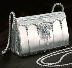The Hermes Birkin bag - $ 1.9 million Made entirely of platinum with over 2,000 diamonds, this Hermes Birkin was created by Japanese designer Ginza Tanaka and was sold in 2008 for $ 1.9 million making it the 2nd most expensive handbag in the world.