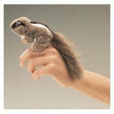 Folkmanis Mini Chipmunk Finger Puppet $6.99