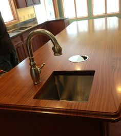 EnGRAIN Wood Countertops   Undermount Sinks ARE An Option With Wood  Countertops! EnGRAIN Wood Countertops Seal The Rim 3X With Marine Epoxy To  Ensure ...