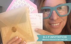 Learn how to create a DIY embossed vellum pochette for your vintage wedding invitations using a few craft tools and some elbow grease. Includes a free template. Embossed Wedding Invitations, Square Wedding Invitations, Wedding Invitation Sets, Diy Invitations, Pocket Invitation, Invitation Templates, Free Wedding, Diy Wedding, Wedding Ideas