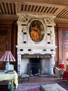 Château de Fléchères - Cheminée des appartements de Madame.- Fareins - Dombes - Ain