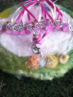 RESERVE LISTING Pink Moon Fairy Party Favors 14 Pink Fairy Dust Necklace #Pink #Wedding #PinkWedding #Paper