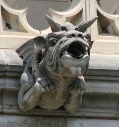 Washington National Cathedral Gargoyles: Baggy-eyed Dragon (55) in Washington, D.C. by Frederick E Hart, Carl L Bush