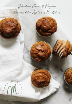 You can indulge in these Gluten Free Vegan Pumpkin Spice Muffins without the guilt. The muffins are light and fluffy and will cure and pumpkin cravings.