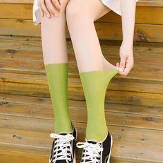 [leggycozy] Korean Idol Kawaii Candy Color Pantyhose Stockings Candy Colors, Idol, Fall Winter, Korean, Stockings, Kawaii, Slim, Fashion, Dressing Rooms