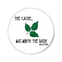 The Cache was worth the rash! Stickers