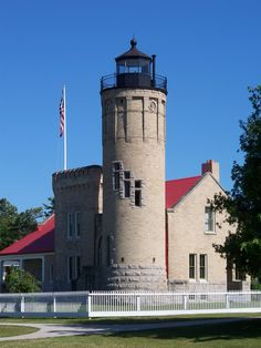 Old Mackinac Point Light	junction of Lake Michigan and Lake Huron 	Mackinaw City 	Michigan 	US	45.787500, -84.729444